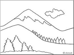Small Picture Mountain Coloring Page FunyColoring