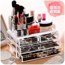 Desktop Acrylic Makeup Organizer For Cosmetics and Jewelry,Office Desk  Accessories Large Plastic Storage Cabinets