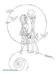 Coloring The Nightmare Before Christmas Coloring Pages Jack