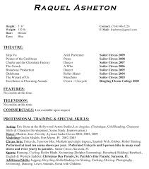 ... examples Child Acting Resume Format