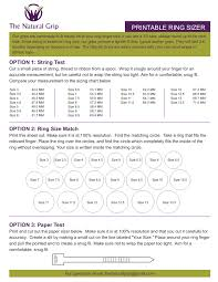 Inside Ring Diameter Chart Natural Grip Ring Sizer Pages 1 1 Text Version Anyflip