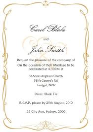 Wedding Inviting Words Classic Wedding Invitations Bride And Groom Hosting The