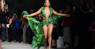 Jennifer Lopez Closes Runway Show in Green Versace Dress | Time