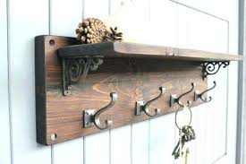 Wood Wall Mounted Coat Rack Beauteous Wall Mount Coat Rack With Hooks Wall Mounted Coat Rack Wooden Wall