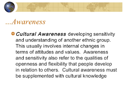 developing cultural competence  awareness cultural