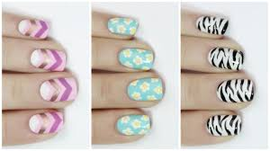 EASY nail art for short nails - YouTube