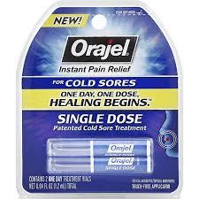orajel cold sore treatment single dose
