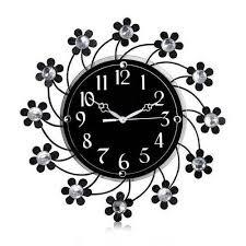 black acrylic decorative wall clock