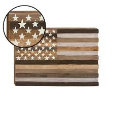 rustic american flag framed wooden wall art 95281 the home depot