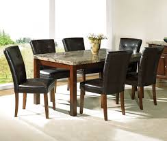 chairs restaurant 5 piece dining table on at clic breathtaking brown rectangle modern marble craigslist varnished