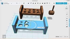 123d Design Basics 123d Design Tutorial Basics Exercise 1 Mallet And Board