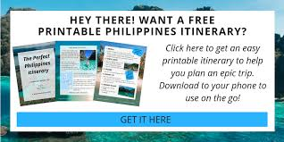 Another Word For Itinerary Is Where To Go In The Philippines The Perfect Itinerary