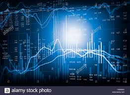 Financial Stock Market Data Candle Stick Graph Chart Of