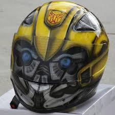 transformers bumblebee custom painted helmet freshcoat customs