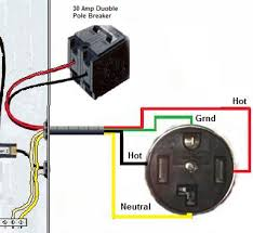 wire a dryer outlet 4 prong dryer outlet wiring diagram