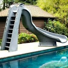 pool slide turbo twister inflatable slides for above ground pools l25 slide