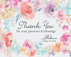 Thank you card images Appreciation Thank You Card Floral Painting Design Wedtree Thank You Cards Return Gifts By Wedtree