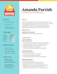 Colorful Two-Column Resume
