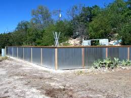 sheet metal fence how to build corrugated panels diy