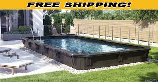 Wooden Pools Wood Above Ground Swimming Pools