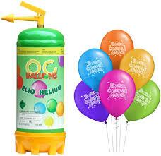 ocballoons Bombola Elio Gas 2,2LT per Gonfiare Palloncini USA e Getta Kit  Festa Bomboletta Gonfia 20 Palloncini Compleanno Colorati Gonfiatore per  Addobbi e Decorazioni per Feste: Amazon.it: Giochi e giocattoli