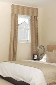 decoration curtains for small window in bathroom with contemporary soft color bedroom design