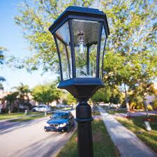 Gama Sonic Victorian Solar Lamp Post Single Black
