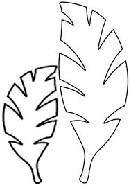 rainforest leaf template