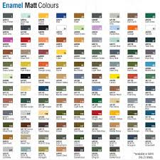 Craft Paint Conversion Chart Humbrol Enamel Modelling Paint Tinlets Colour Chart