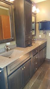 Bertch Bath Plymouth Style Cabinets In Oak Shale Our Bathrooms