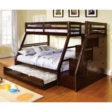 dark walnut finish twin over full bunk bed full beds for sale73