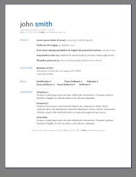 Primers 6 Free Resume Templates Open For Word 2 Myenvoc