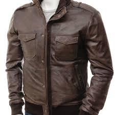 men s brown er leather jacket belgrade