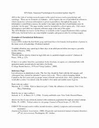 Apa Format For A Report Fresh Apa Style Research Paper Template