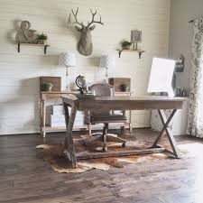 modern rustic office. DIY Shiplap Wall In A Rustic Home Office Makeover, Jillify On @Remodelaholic Modern R