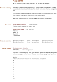 Download Blank Cv Template For Free - Formtemplate