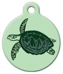 Dog Tag Art Sea Turtle Print Pet Id Tag For Dogs And Cats