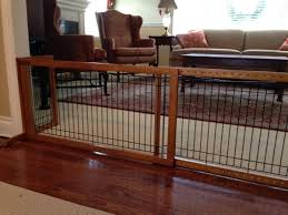the beautiful and easy to setup richell freestanding dog gate in action
