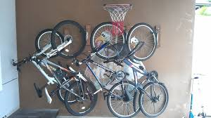 picture of homemade bicycle wall mount