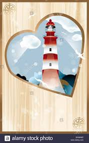 cover page of photo album heart shaped lighthouse design cover page of photo album heart shaped lighthouse design