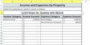 Rental Property Worksheet Excel Rental Property Worksheet Excel ...