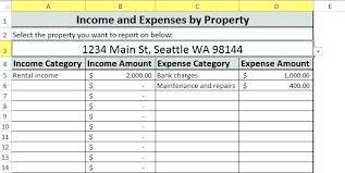 Rental Property Worksheet Excel Rental Property Worksheet Excel ...