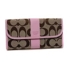 ... Coach Legacy In Signature Large Pink Wallets DUQ ...