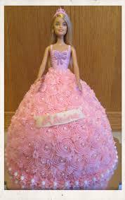 Barbie Princess Dress Design Barbie Doll Princess Cake All Buttercream Barbie Doll