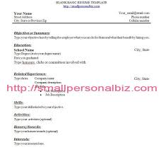 Resume No Job Experience Example Of Resumes For Jobs Basic Resume Examples Basic 51