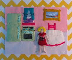 quiet book dollhouse kitchen page