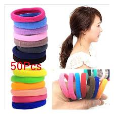 FidgetGear <b>50 Pcs Elastic Rope</b> Ring Hairband Women Girls Hair ...