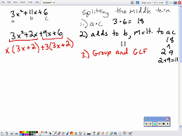 factoring a trinomial with leading coefficient not equal to one