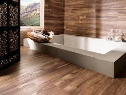 black stain carving wood room divider varnished wood floor tile varnished wood wall tile white porcelain built in bath tub wood tiles bathroom decorating