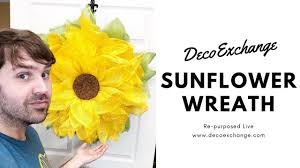 sunflower wreath diy sunflower wreath tutorial